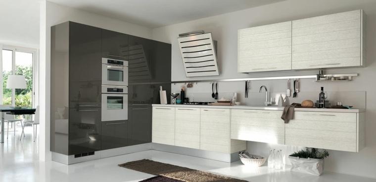 muebles blancos grises modernos