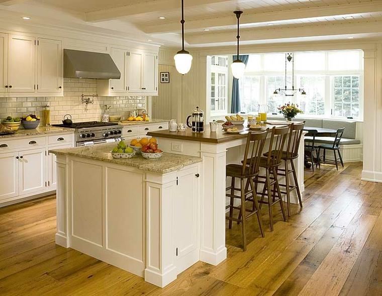 muebles cocina retro blancos