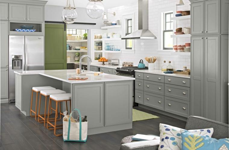 hablar sobre una tendencia muy actual; las cocinas blancas y grises