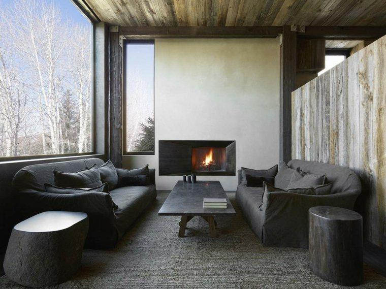 muebles modernos color gris oscuro