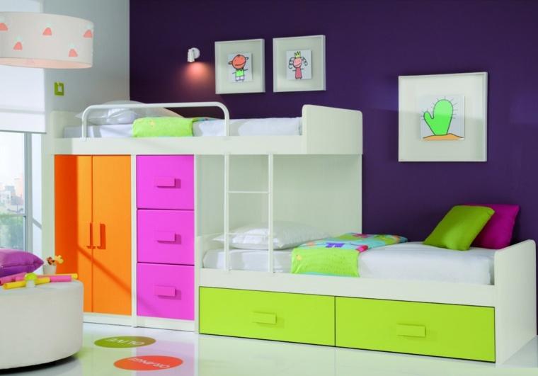muebles colores habitaciones infantiles modernas