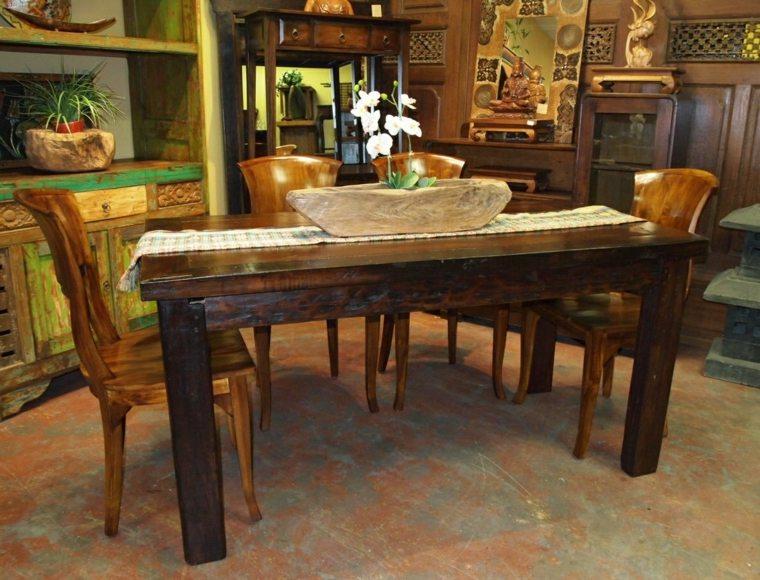 muebles comedor maderta estilo rustico
