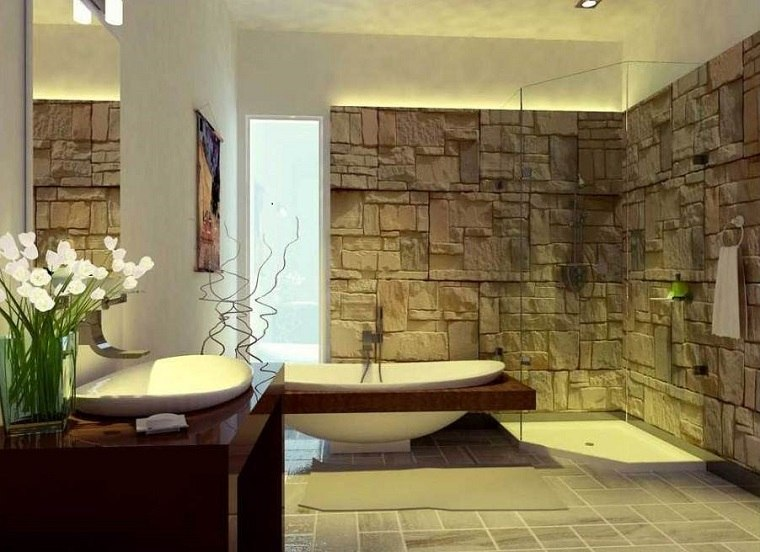 Muebles de ba o modernos de estilo r stico 49 modelos for New bathroom ideas 2016