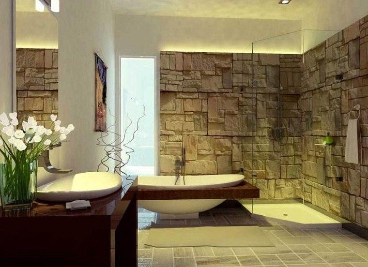 Baño Moderno Rustico:diseños de baños modernos de estilo rústico