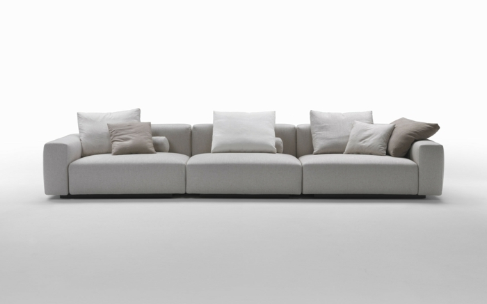 muebles de salon diseño cojines detalles blanco