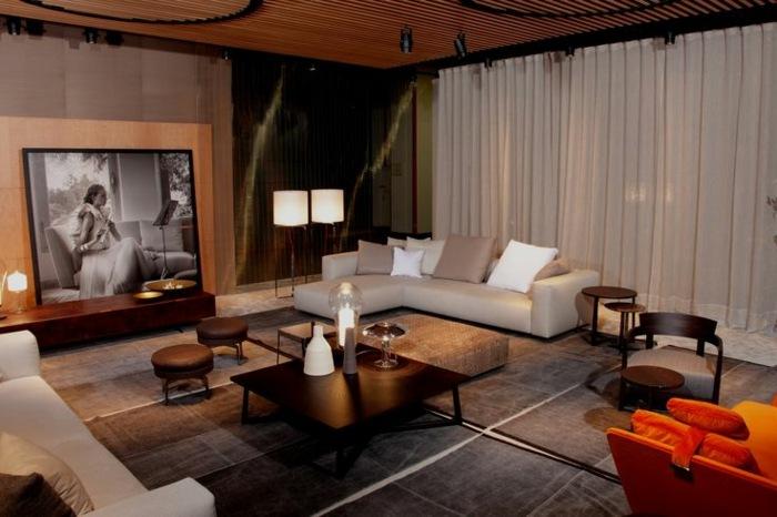 muebles de salon diseño calido elegantes maderas