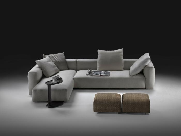muebles de salon diseño diseño elegante estantes taburetes marrones
