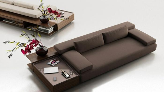 muebles de salon diseño elegante funcional jarrones