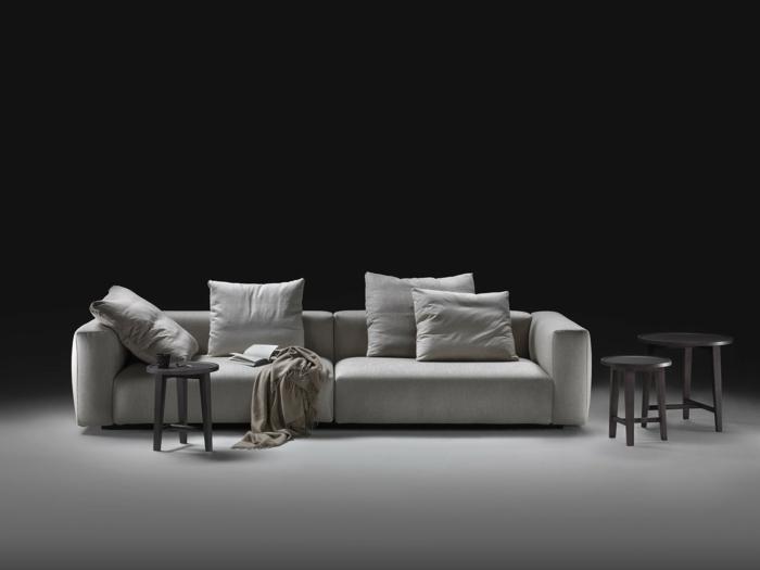 muebles de salon diseño elegante funcional italia cojines