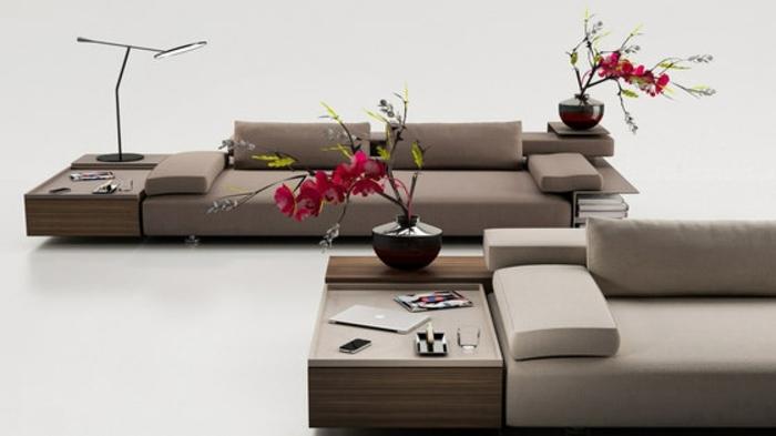muebles de salon diseño elegante funcional soluciones flores