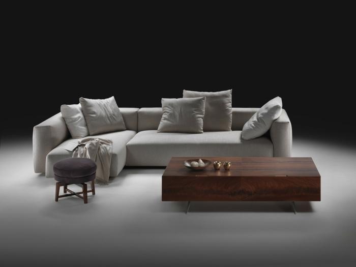 muebles de salon diseño elegante maderas mesas