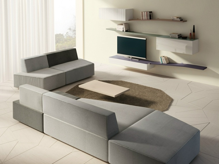 muebles diseño salon opciones pared salon ideas
