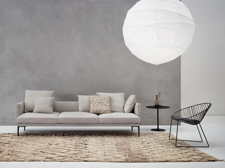 muebles diseño salon silla negra acero ideas