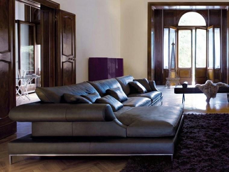 muebles diseño salon sofa negra preciosa ideas