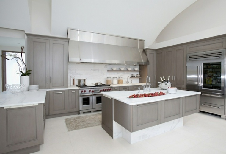 Cocinas blancas y grises los 50 dise os m s actuales for Gabinetes de cocina modernos 2016