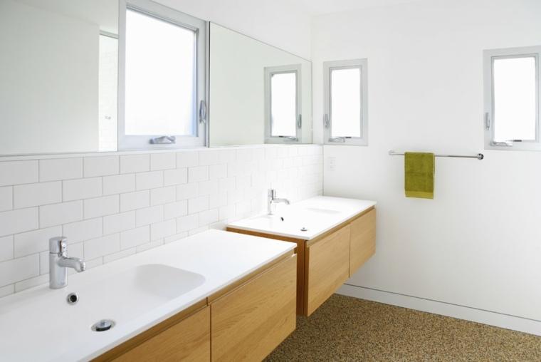 muebles lavabos baño madera