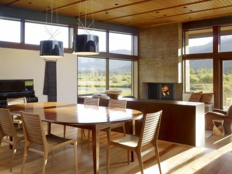 muebles madera natural diseño moderno