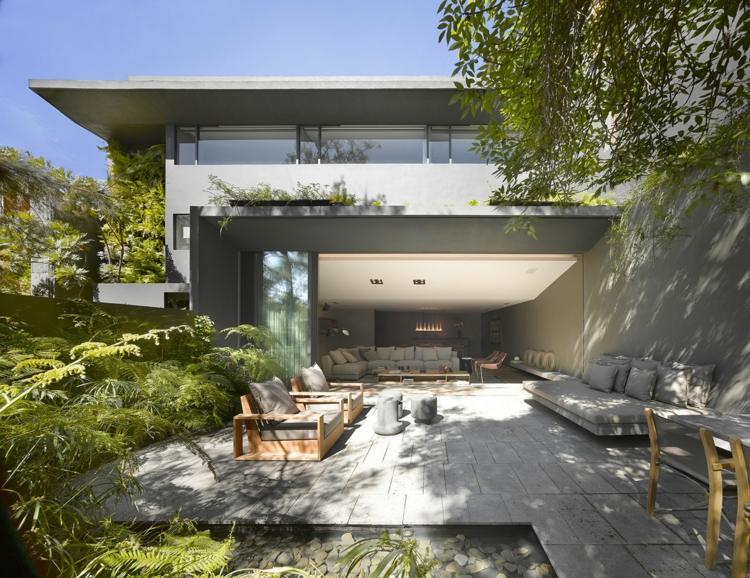 muebles madera jardin trasero ideas