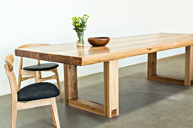 Mesas de comedor modernas de madera maciza m s de 50 ideas for Mesas de comedor grandes de madera