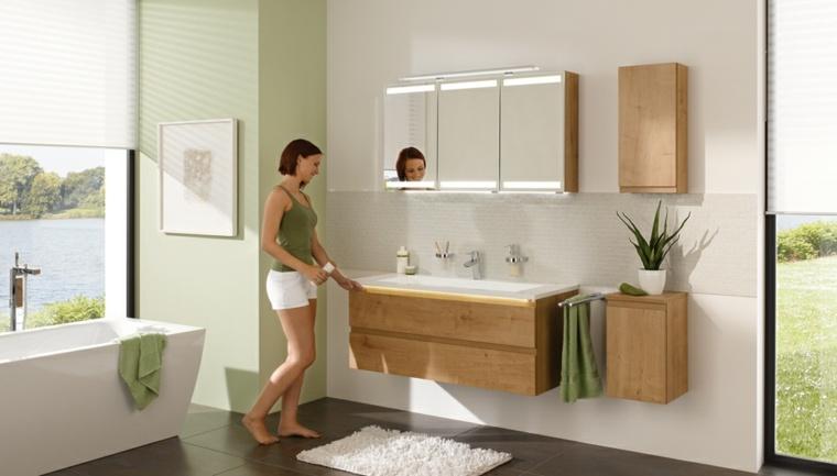Gabinete Para Baño Madera:Armarios de baño y muebles lavabo de madera – 50 ideas -