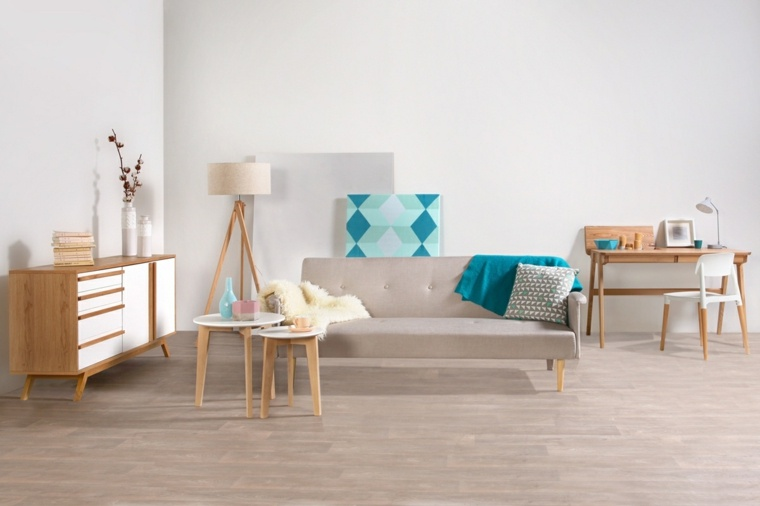 muebles madera salon moderno blanco ideas