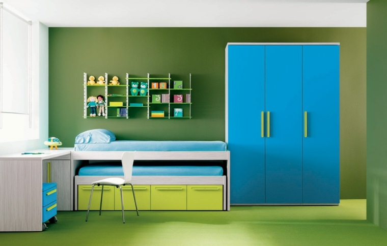 Habitaciones infantiles de moda 50 dise os divertidos for Muebles infantiles diseno