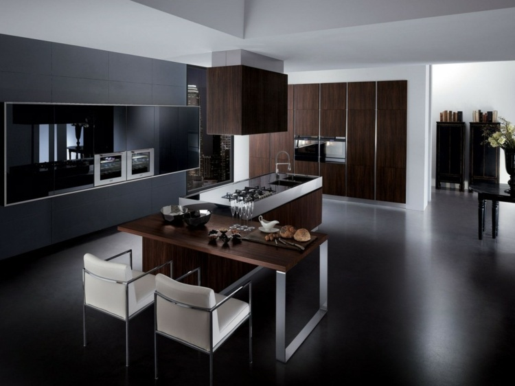 muebles oscuro combinados detalles metales zonas