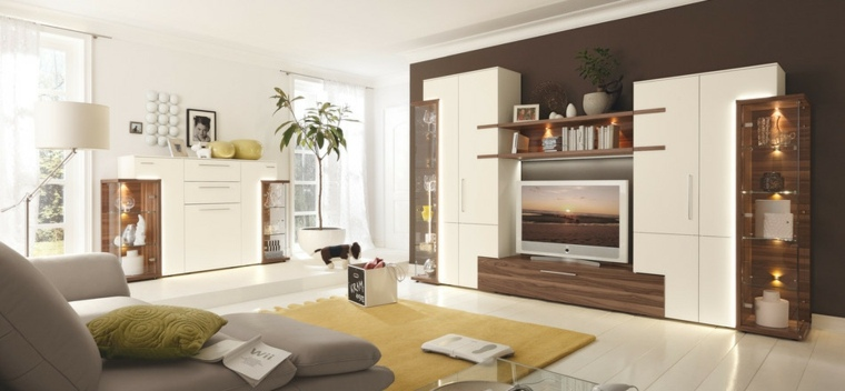 Muebles para salon 36 opciones para habitaciones con estilo - Muebles de salon originales ...