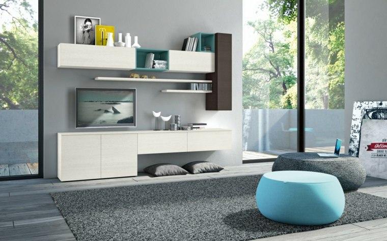 muebles para salon modernos blancas preciosas ideas