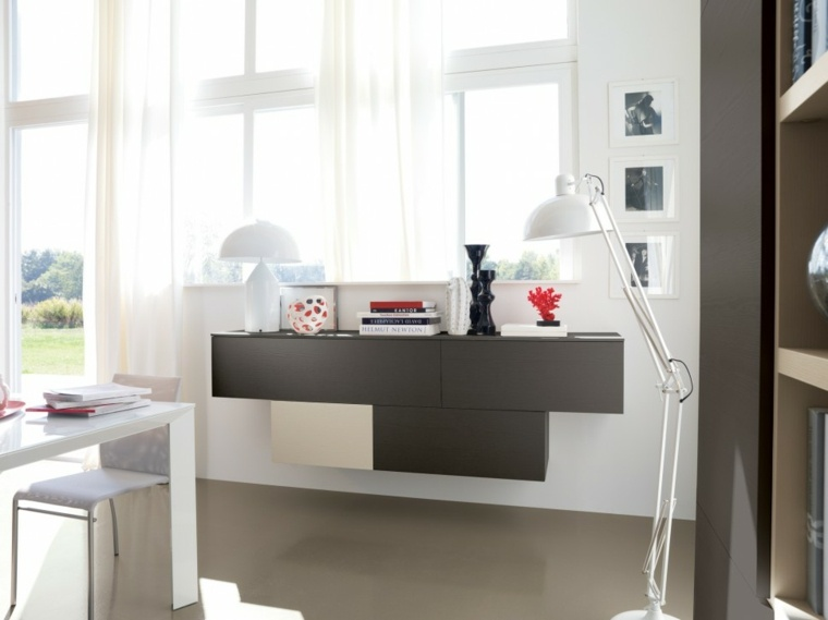 muebles para salon modernos blanco negro ideas