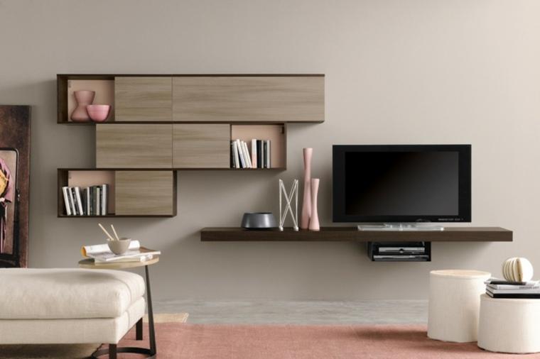 Muebles para salon 36 opciones para habitaciones con estilo - Muebles para teles ...
