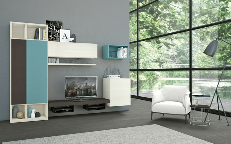muebles salon modernos luminoso muebles colores ideas