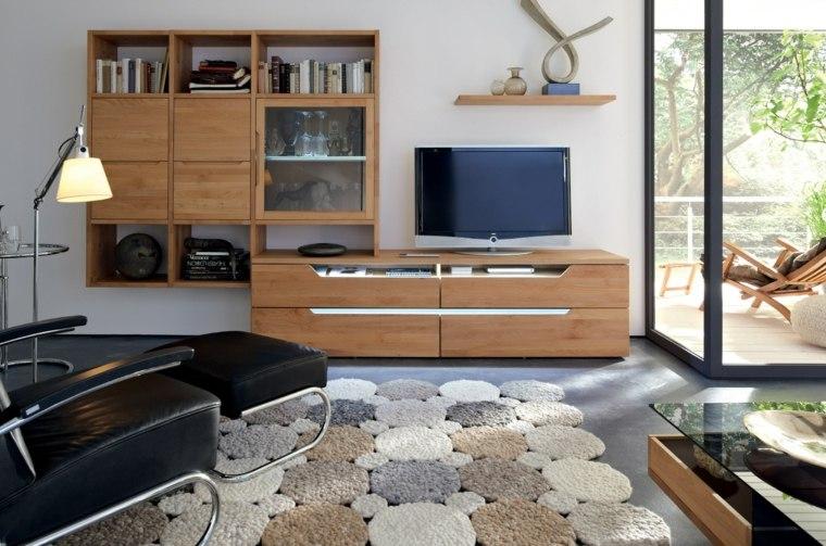 muebles salon modernos madera alfombra preciosa ideas