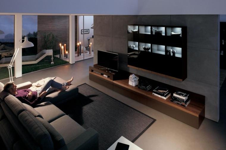 muebles para salon 36 opciones para habitaciones con estilo. Black Bedroom Furniture Sets. Home Design Ideas