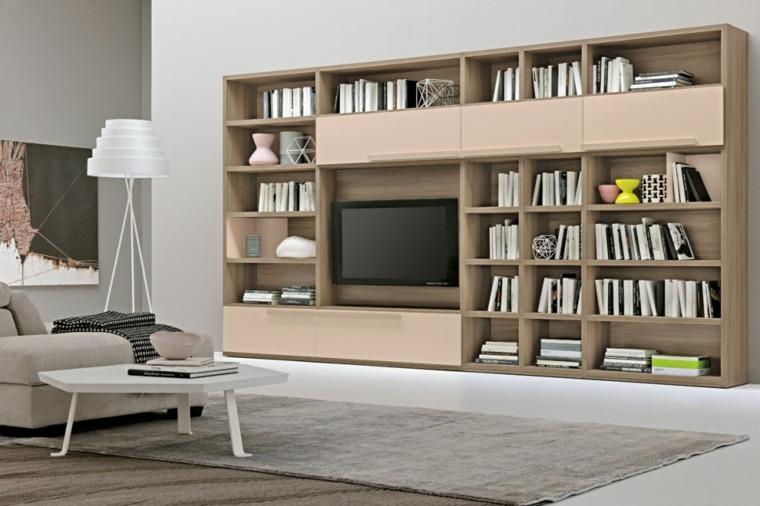 muebles salon modernos opciones libros ideas
