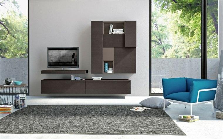 muebles salon modernos opciones marron ideas