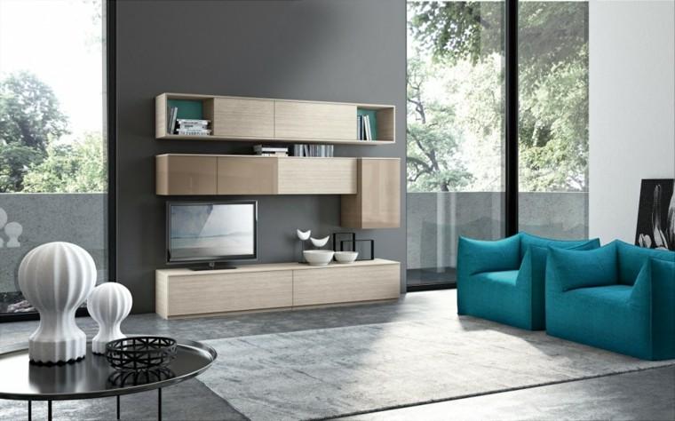 Muebles para salon 36 opciones para habitaciones con estilo - Sillones para salon ...