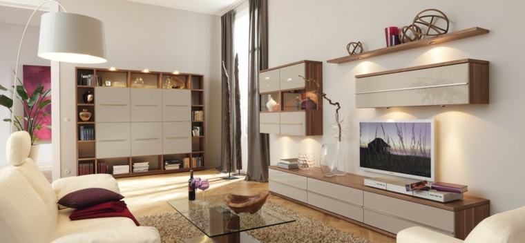 muebles preciosos salon moderno televisor ideas