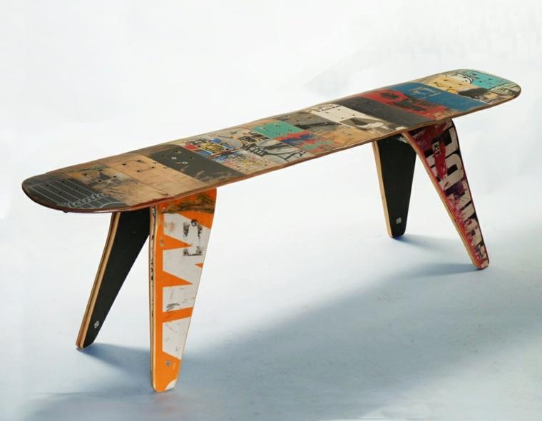 muebles reciclados tabla skate