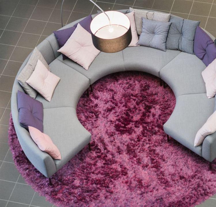 muebles salon ideas funcionales blancos vivos rosa