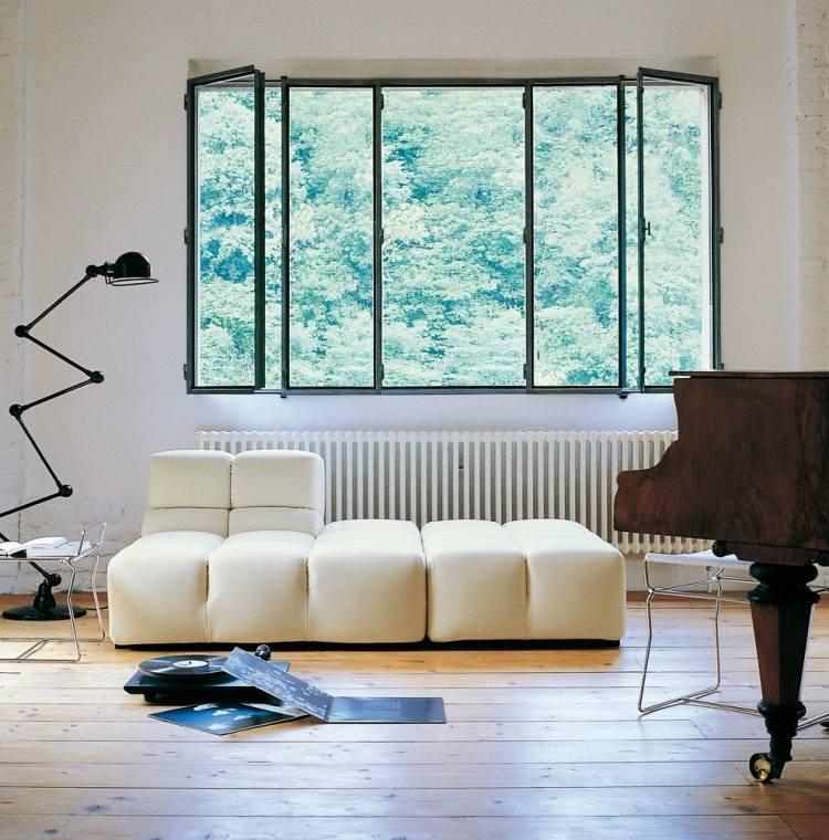 muebles salon ideas funcionales blancos negros