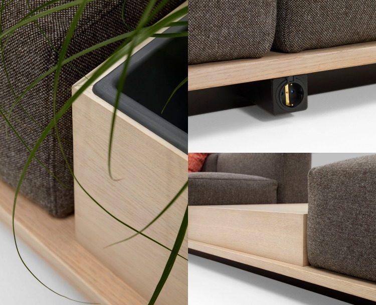 muebles salon ideas funcionales toma incorporada plantas