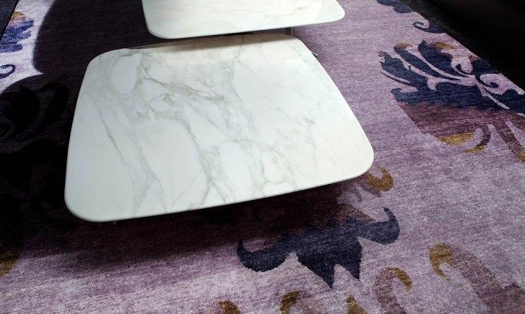 muebles salon ideas marmol superficies alfombras