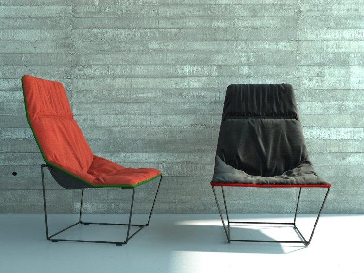 muebles salon ideas metales sillones rocas