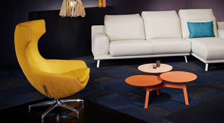 muebles salon ideas tendencias negro casas amarillo