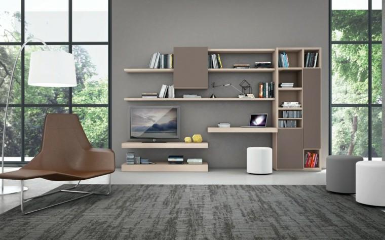 muebles salon modernos alfombra gris ideas