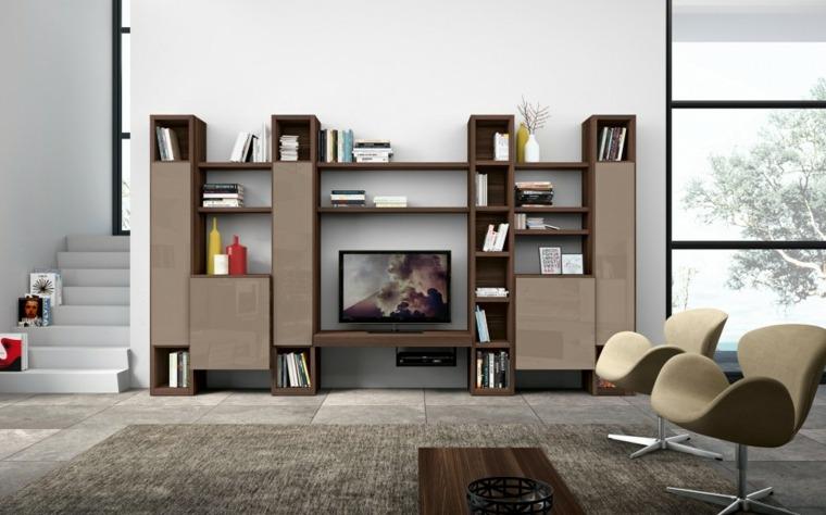 muebles salon modernos estantes bonitos ideas