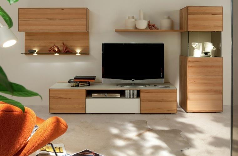 Muebles para salon 36 opciones para habitaciones con estilo - Muebles madera salon ...