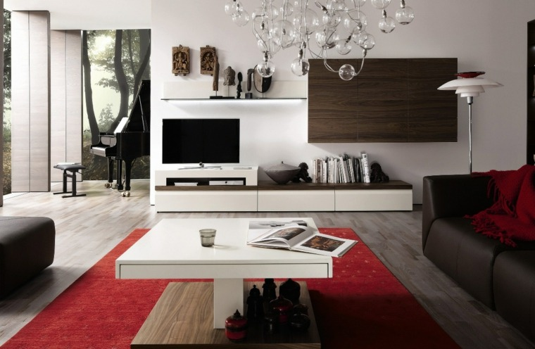 muebles salon modernos pared decorada ideas