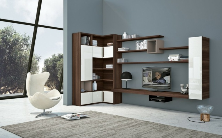muebles salon modernos sillon blanco ideas